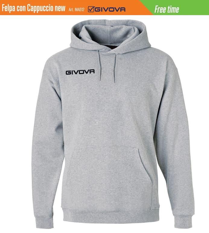 best website 27c94 78306 Felpa con cappuccio Givova