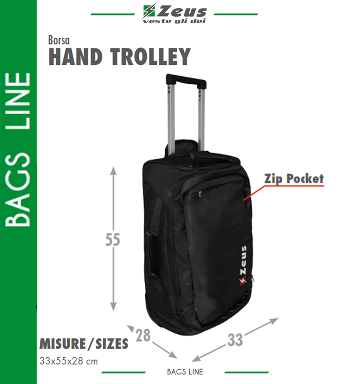 huge selection of 8351d a99bb Borsone sportivo Zeus Hand Trolley