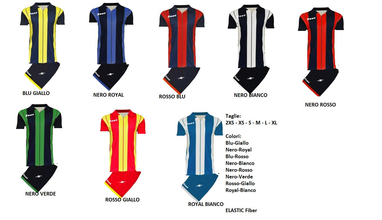 288cdde25 Completi Calcio Zeus Manica Corta Personalizzabili: Zeus - Completo ...