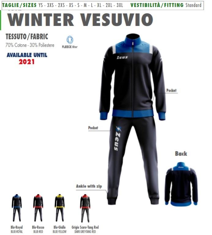 5a46fa070924e Tuta relax Zeus Vesuvio - Tuta sportiva di rappresentanza