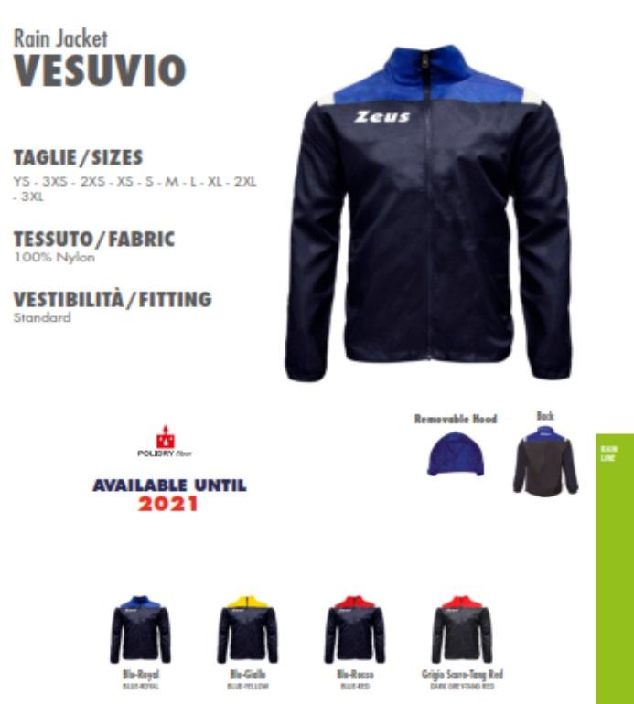 9db1baad85a89 Rain Jacket Zeus Vesuvio - K-way per allenamento