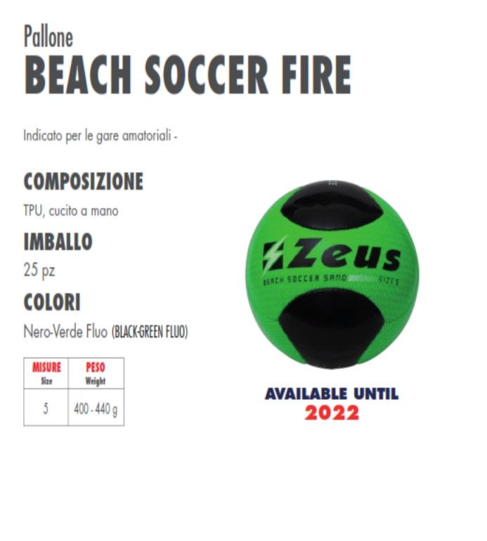 Zeus Pallone da Beach Soccer Fire