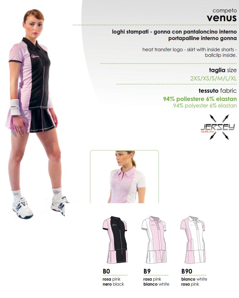 official photos 3a8c5 f3e70 Completo Tennis Classics Venus - Abbigliamento sportivo donna